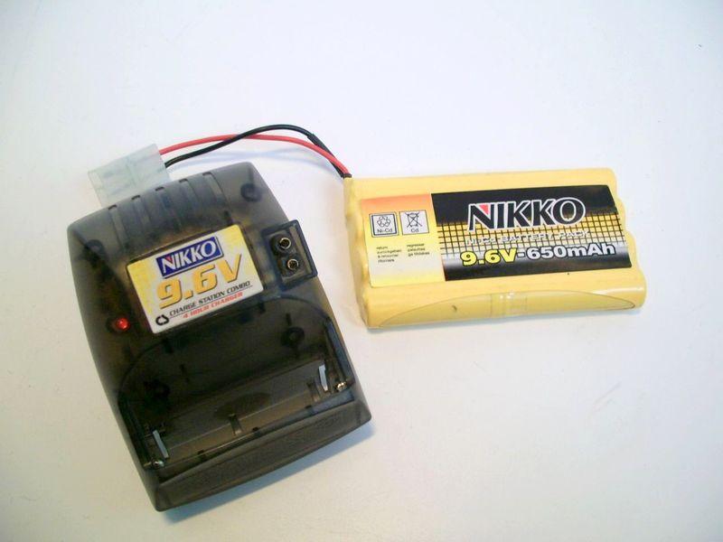 batterie pour voiture t l command e nikko de 9 6 v. Black Bedroom Furniture Sets. Home Design Ideas