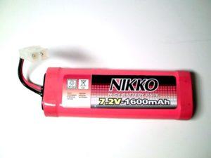 Batterie 7,2 Volts 1600mAh NiCd au format modélisme